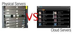 Difference between Physical server and Cloud server